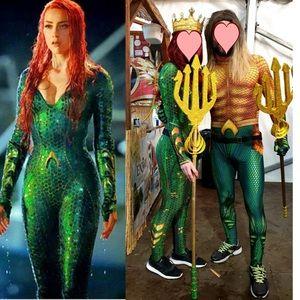 Halloween costume bodysuit. Aquman Mera